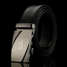 doulilu品牌头层皮男士皮带自动扣腰带商务休闲裤带