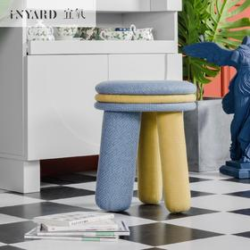 [InYard宜氧]马卡龙凳/原创实木软包凳/北欧餐凳圆凳换鞋凳梳妆凳