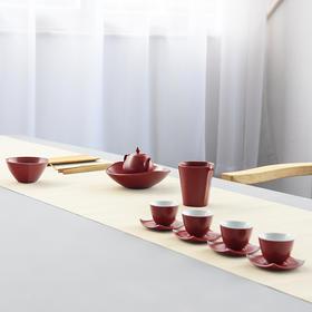 婚庆茶具套装结婚红色敬茶杯陶瓷茶壶整套礼品泡茶器色釉