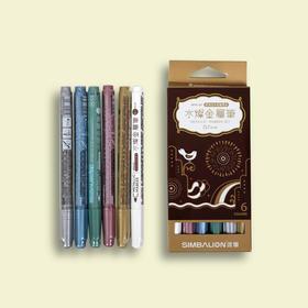 雄狮6色水灿金属笔