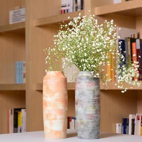 陶溪川景德镇陶瓷花瓶家居装饰品摆件志野烧花器花插礼品