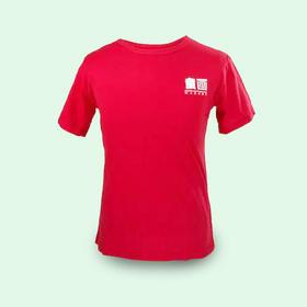 童画红色成人T恤