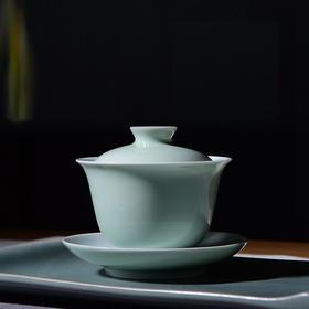 陶溪川景德镇陶瓷手工颜色釉马蹄家用盖碗茶杯功夫茶具泡茶手抓壶
