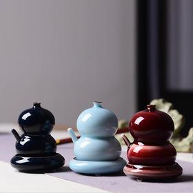 陶溪川 景德镇创意陶瓷砚台磨墨专用水滴文房用品砚滴颜色釉