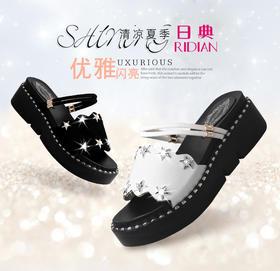 chic两穿凉鞋女ulzzang拖鞋2018夏季新款中跟凉拖鞋外穿沙滩女鞋