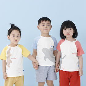 【All Blu&LOHAS】珍稀动物有机棉儿童T恤|三款稀有动物图案可选|亲肤透气好入夏