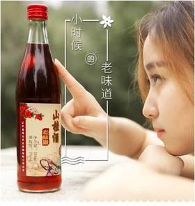 东北80年代老味道 通明山 山楂果酒 500ML*6 果香浓郁 酸甜清爽
