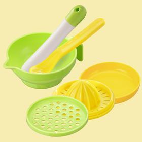日康宝宝辅食研磨器 婴儿食物研磨碗手动果泥料理机工具用品 7件