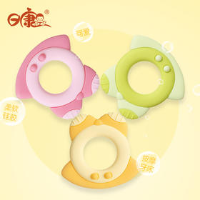 日康牙胶婴儿无毒硅胶软宝宝磨牙棒咬咬胶固齿器牙胶玩具3-12月