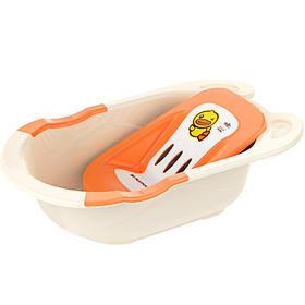 日康婴儿洗澡盆新生儿可坐躺通用宝宝浴盆小孩儿童大号加厚沐浴盆