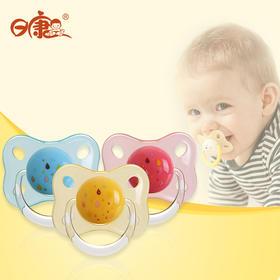 日康至亲安抚奶嘴 婴儿宝宝硅胶奶嘴 安睡型玩嘴0个月以上 带收纳