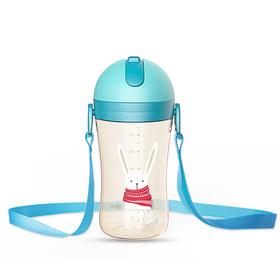 日康儿童水壶ppsu吸管杯宝宝水杯家用防漏幼儿园防摔学饮杯喝水杯