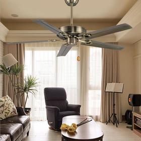 【风扇】*工业吊扇灯 餐厅家用卧室复古小吊扇客厅风扇灯铁叶不带灯电扇灯