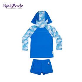 澳大利亚进口Rashoodz 儿童长袖带帽防晒分体沙滩衣泳衣