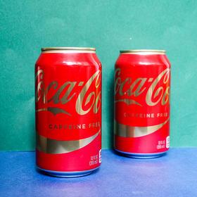 可口可乐无咖啡因汽水355毫升