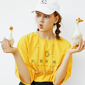 黑喵像素设计复古chic潮牌韩风宽松男女情侣夏装上衣短袖圆领T恤