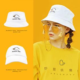 像素原创设计ins复古chic港味男女情侣遮阳渔夫帽棒球帽帽子