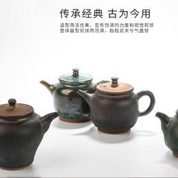 陶溪川新品景德镇陶瓷纯手工仿古壶功夫茶具实用泡茶壶茶道配件