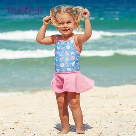 澳大利亚进口Rashoodz  女童吊带裤裙连体泳衣沙滩衣