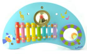 【法国玩具】法国品牌 三合一 月牙形状音乐桌木制儿童益智玩具