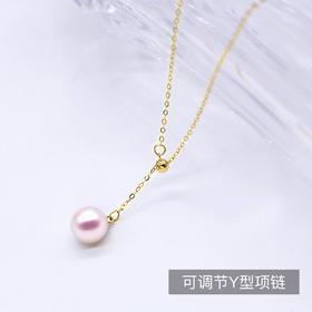 花蜜 日本Akoya海水珍珠18k金项链