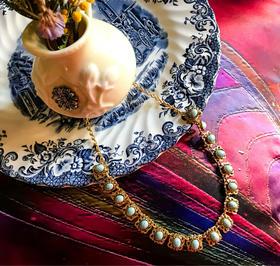 古典优雅绿松项链
