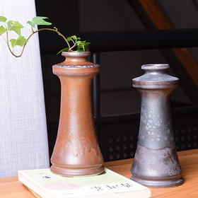 陶溪川新品景德镇禅意陶瓷复古烛台花器家居摆设装饰礼品摆件花瓶