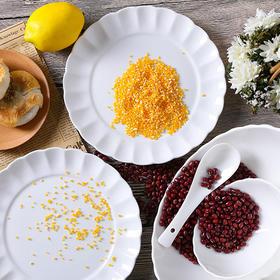 景德镇玉柏陶瓷餐具套装骨瓷碗盘 纯色13件套饭碗 素颜清新礼品瓷