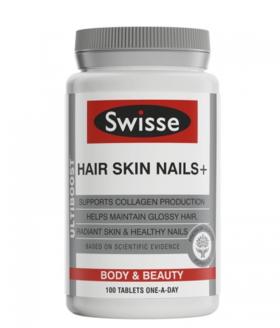 【新西兰直邮】Swisse胶原蛋白片新西兰版 Swisse Hair Skin Nails 100片