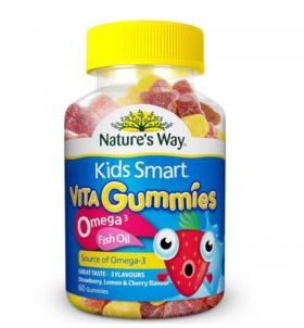 【新西兰直邮】Nature's Way omega-3儿童鱼油咀嚼软糖 60粒