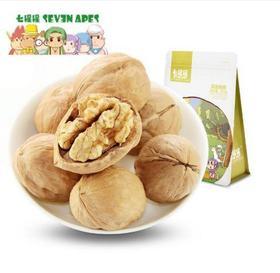 【零食】七猩猩薄皮核桃新疆纸皮野生开口核桃孕妇零食品