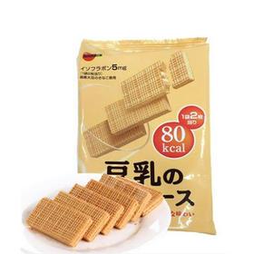 日本进口零食品 布尔本bourbon波路梦豆乳威化饼干 休闲食品16枚入