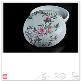 长物居 陈设实用两相宜 手绘粉彩花卉大捧盒 景德镇手工仿古瓷器