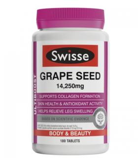 【新西兰直邮】Swisse葡萄籽精华 Swisse Grape Seed 14250mg 180片/瓶