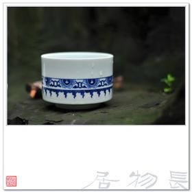 长物居 手绘青花陶瓷茶杯水杯咖啡杯 景德镇手工瓷器茶具