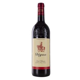 法国迪贡圣希尼昂红葡萄酒-雕花瓶750ml干型