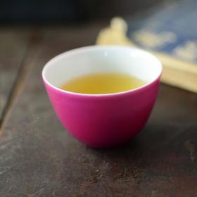 长物居 胭脂水单色釉鸡心杯景德镇手工仿古瓷器茶杯陶瓷茶具