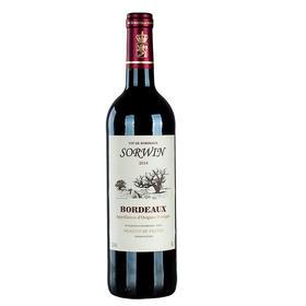 法国索尔文红葡萄酒(波尔多)-高瓶身2013 750ml干型