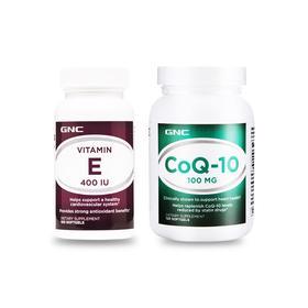 爱丁严选 GNC辅酶Q10(120粒) +GNC维生素E软胶囊(100粒)    参加满减