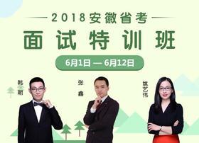 2018安徽省考面试特训班