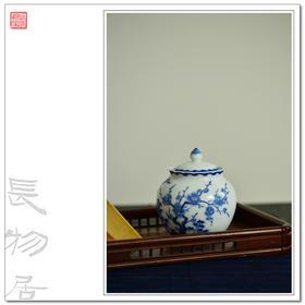 长物居 景德手绘青花松竹梅纹陶瓷茶叶罐茶具 江西瓷业公司款