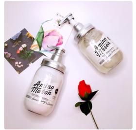 【网红爆款】日本Amino Mason植物牛油果牛奶氨基酸无硅油滋润洗发水,护发素,护发精油三选一