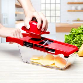 【6款刀片 随意更换】刨丝神器,切片切丝切条,轻松搞定 食品级材料 安全不上手