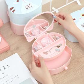 化妆品折叠梳妆盒带镜子 文具