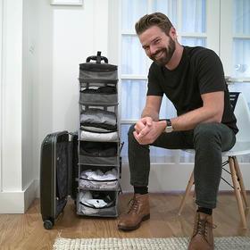 【现货】美国Solgaard创意折叠整理收纳衣橱式行李箱拉杆箱Lifepack登机箱