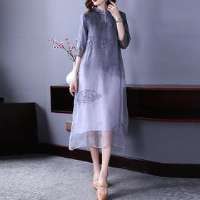 (捡漏款)OG2213中国风连衣裙TZF