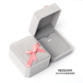 简约高档毛绒项链盒耳环耳钉戒指珠宝首饰盒首饰收纳盒饰品盒子