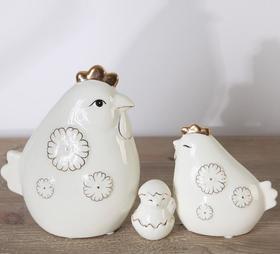 贵州手工陶瓷鸡摆件