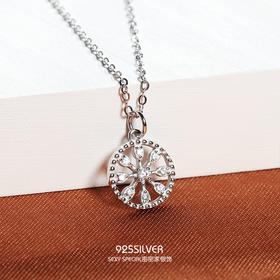 密密家925纯银温暖的弦同款女士项链时尚款女2018新款锁骨链颈链