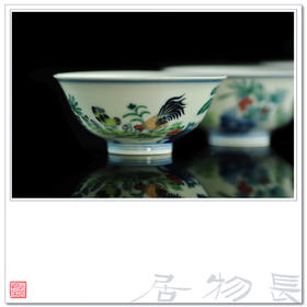 长物居 雍正款手绘斗彩鸡缸杯 景德镇手工仿古陶瓷茶具茶杯品茗杯